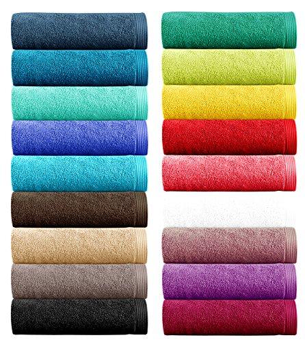 Lashuma Handtuch - Frotteeserie Premium New Plus - in 18 Farben und 5 Größen, Farbe: chocolate - braun, Handtuch 50x100 cm (Handtücher Plus Baumwolle Handtuch)