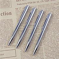 ZunBo 10 penne a sfera in metallo a forma di tasca, a forma di olio, in acciaio inox