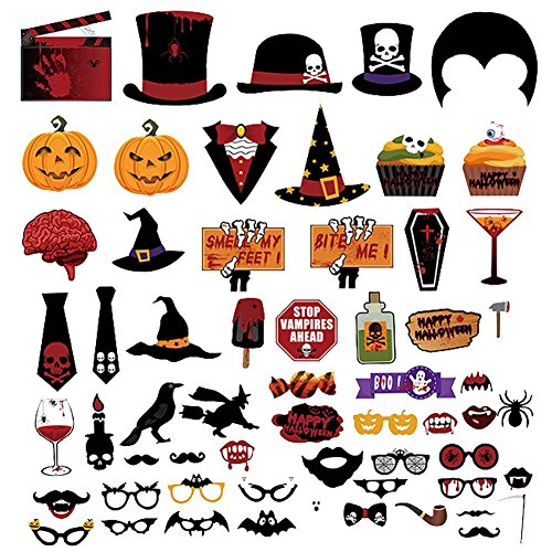 oween Party Foto Halloween Fotorequisiten Fotoaccessoires Photo Booth Props Fotobox Accessoires Foto Requisiten ()