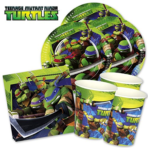 Teenage Mutant Ninja Turtles PartyBox - für Mottoparty & Geburtstag Party Set (Basic für 16 Gäste - 52-TLG.)