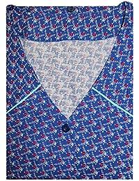 Tobeni Smock Delantal Boton-Smock 100 Algodon Multicolor o Negro-Blanco a Tamano 66 Color Design 37 Tamano 54