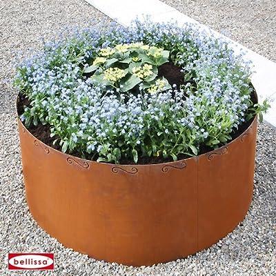 Hochbeet Corten rund mit Schnörkel 91004 von bellissa auf Du und dein Garten