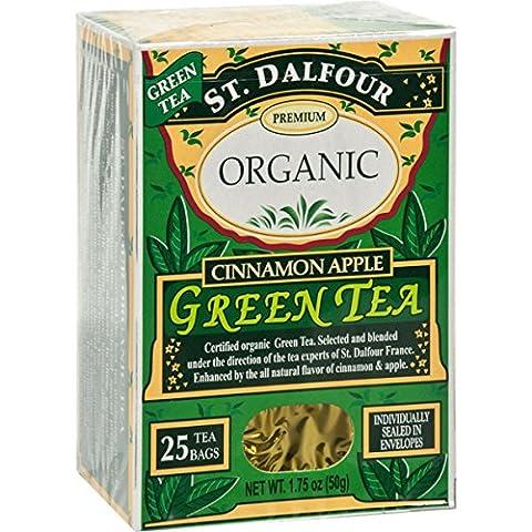 Green Tea, Cinnamon Apple, 1.75 oz (50 g), 25 Tea Bags