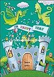 Glückwunschkarte zum Geburtstag * Mila Marquis * Drachen, Ritter & Schloß