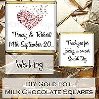 Eternal Design – Chocolatina de chocolate con leche con mensaje personalizable, ideal para obsequio en