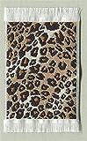 Miniatur Teppich, reines Polyester für Krippe, Puppenhaus, Leopardenmuster 5x8cm