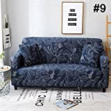 Monba Sofa Bezug Easy Fit Stretch Möbel 1 2 3 4-Sitzer-Schonbezug Home Liebesschaukel Sofa Couch abdeckt, elastischer Stoff Sofa Displayschutzfolie Geometrische Stil, Polyester,#9, 3 Seater:185-230cm