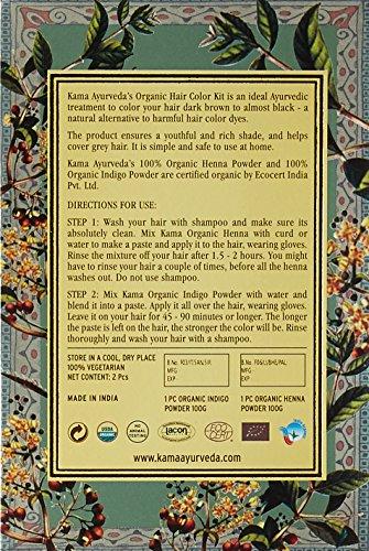 Kama Ayurveda Natural Organic Hair Coloring Kit, 200g (Pack of 2)