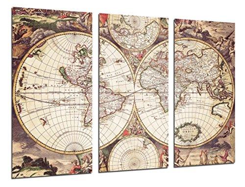 Cuadro Fotográfico Mapa Mundi Antiguo