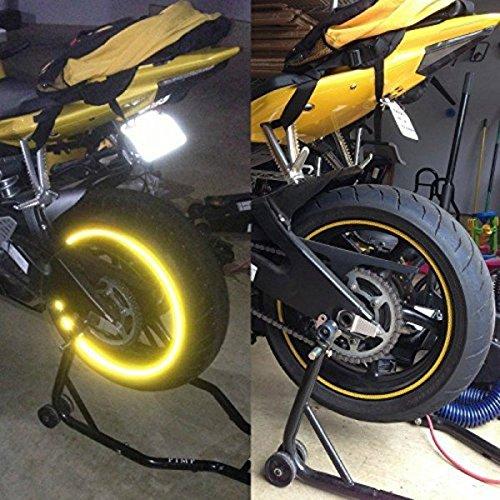 StickersLab - Strisce Moto adesive cerchi rifrangenti riflettenti marca 3M stripe for wheel 7mm x 6MT (Oro)