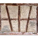 murando - Fototapete 350x256 cm - Vlies Tapete - Moderne Wanddeko - Design Tapete - Wandtapete - Wand Dekoration - Beton Abstrakt Holz Tür f-B-0025-a-a