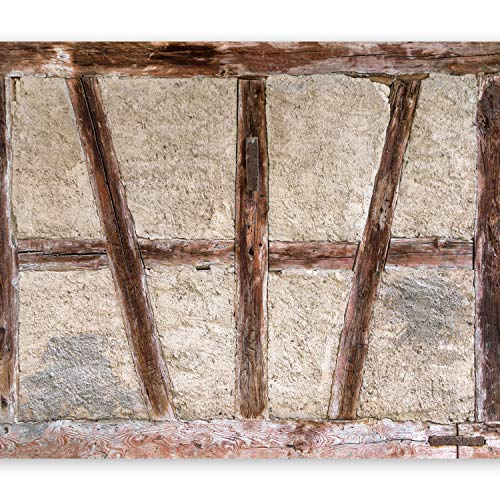 Moderne Holz Türen (murando - Fototapete 150x105 cm - Vlies Tapete - Moderne Wanddeko - Design Tapete - Wandtapete - Wand Dekoration - Beton Abstrakt Holz Tür f-B-0025-a-a)