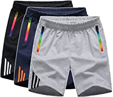 Manluodanni Homme Pantalon Court Décontracté Short et Bermuda Sport Jogging Casual Slim Fit Multi Poches