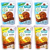 VVO Ready To Eat Freeze Dried Fresh Mango & Chikoo Fruit (Best For Summer Milkshakes & Ice-creams) (Pack Of 6)