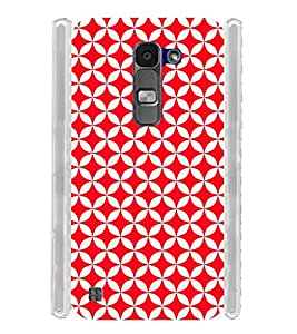 Red Checks Pattern Soft Silicon Rubberized Back Case Cover for LG Spirit 4G LTE