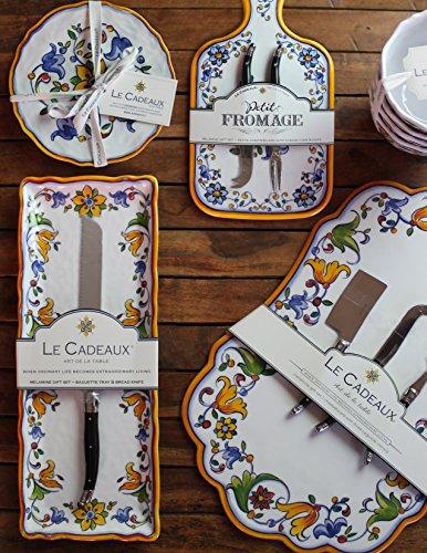 Le-Cadeaux-Melamine-Capri-Tray-and-Bowl-Serving-Set