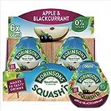 Robinsons SQUASH'D, 0 Percent Sugar, Real Fruit Squash, Low Calorie, Apple & Blackcurrant, Makes 20 Drinks Per Pack, 6 x…