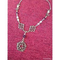 Collana pentacolo, nodo celtico, triquetra, pagano, handmade