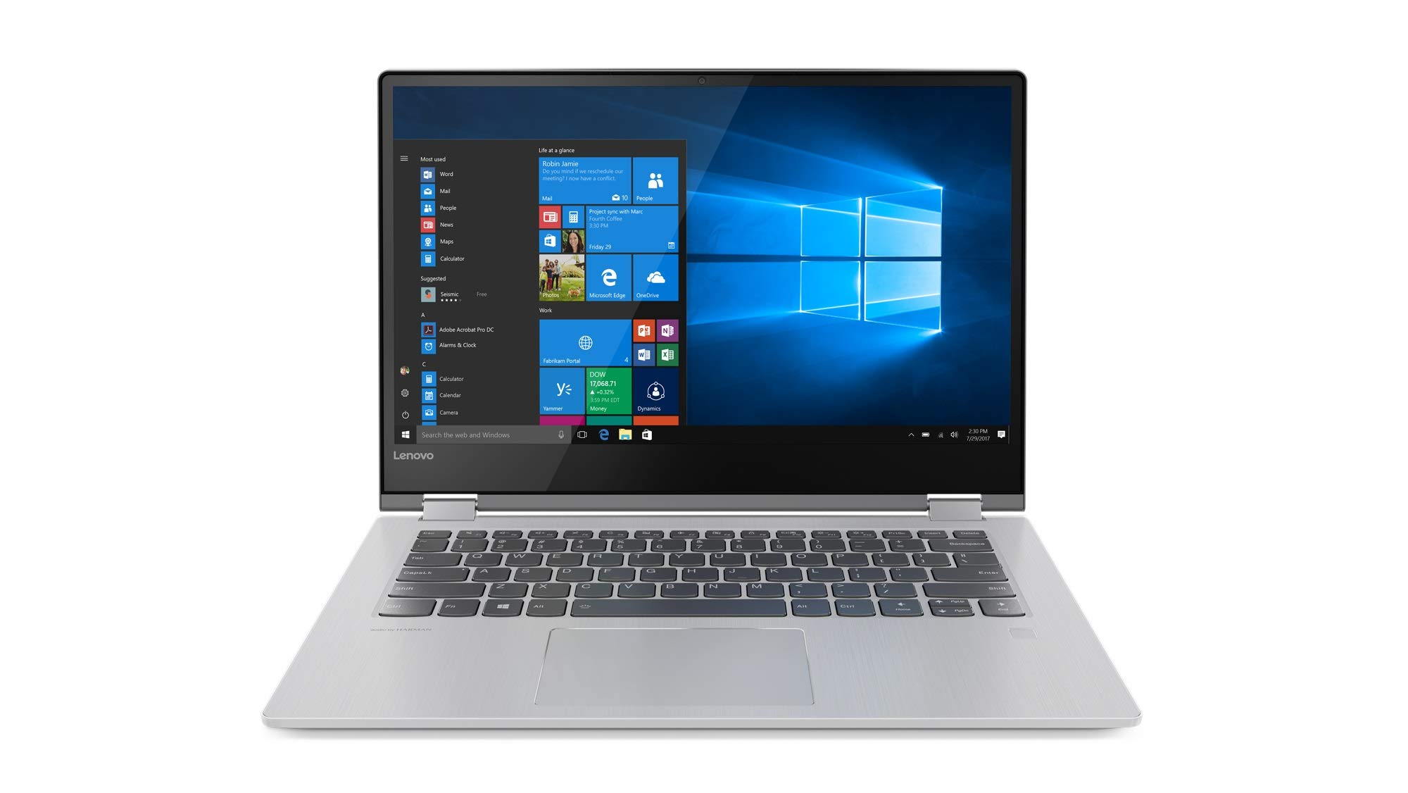 Lenovo Yoga 530-14ARR – Portátil táctil Convertible de 14″ HD (Intel Core i3-7020U, 4GB de RAM, 128GB de SSD, Windows 10) Gris – Teclado QWERTY Español