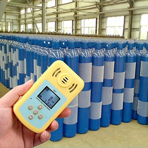 Tonor Tragbar 0-2000ppm Kohlenmonoxid-Detektor Brennbarer Gas-Detektor Warngerät Alarm Gasmelder Gaswarner Tragbarer Gasübertritt Tester mit Ton Licht Vibration Gas Tester Monitor Warnmelder Sicherheitsüberwachung Gelb - 5