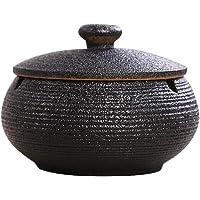posacenere Portatile in Metallo per Interni o Esterni Argento OUOU Posacenere Antivento in Acciaio Inox Moderno da Tavolo