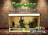 TerraBasic RepCage 80x50x50 con ventilazione laterale e passerella in vetro