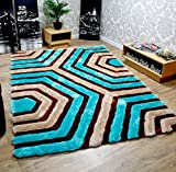 Brand New Hand loom Modern Stone 5D shaggy rugs and carpets for living room, hall(3X5)