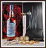 Geschenk Set Talisker Storm Whisky + Flaschenportionierer + 10 Edel Schokoladen von DreiMeister/DaJa + 4 Whisky Fudge, kostenloser Versand