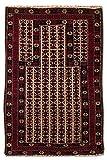 Morgenland Afghan BELUTSCH Teppich 119 x 73 cm Handgeknüpft Klassisch