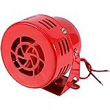 12V luchtaanknoping sirene hoorn elektrische auto vrachtwagen motorfiets driven air raid sirene hoorn alarm luid rood