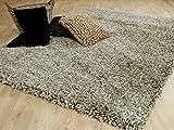 Unbekannt Hochflor Langflor Shaggy Teppich Luxury Taupe Mix in 6 Größen - Reduziert
