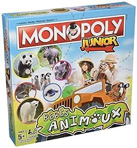 Winning Moves-0987-Monopoly-Junior bebés Animales-Version Francesa