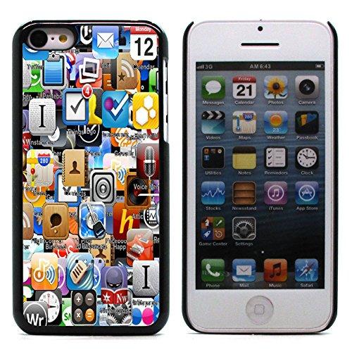 Graphic4You Retro Vintage Grunge Patterm Design Harte Hülle Case Tasche Schutzhülle für Apple iPhone 5C Design #2