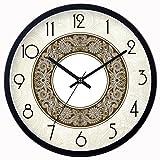 ZHDC® Soggiorno Camera da letto in stile europeo Orologio da parete Mute L'orologio semplice rotonda creativa orologio al quarzo Orologio Home wall clock ( Colore : #1 , dimensioni : 35*35cm )