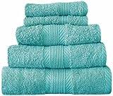 Catherine Lansfield Home 100% Cotton Hand Towel, Aqua