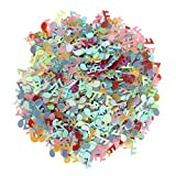 MagiDeal 15g/Lot Confettis Note de Musique Multicolore Scatter Plastique Décoration Anniversaire Baptême