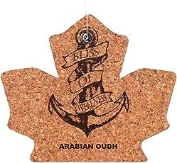 Bliss Of Wellness Cork Arabian Oudh Maple Fragrance Hanger (Brown)