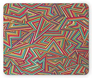 Geometric Mouse Pad, Abstract Pattern Stripe Illusion