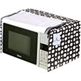 Kuber Industries Dots Design PVC Microwave Oven Full Closure Cover for 20 Litre (Grey) CTKTC33262
