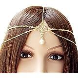 Fashband Headchain Copricapo di perle Boho Fascia Vintage ispirato Fantasy Crown Tiara Moda Accessorio per capelli Festival G