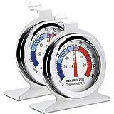 Termometro per frigorifero, confezione INRIGOROUS di 2 termometri in acciaio inossidabile / termometro congelatore con gancio
