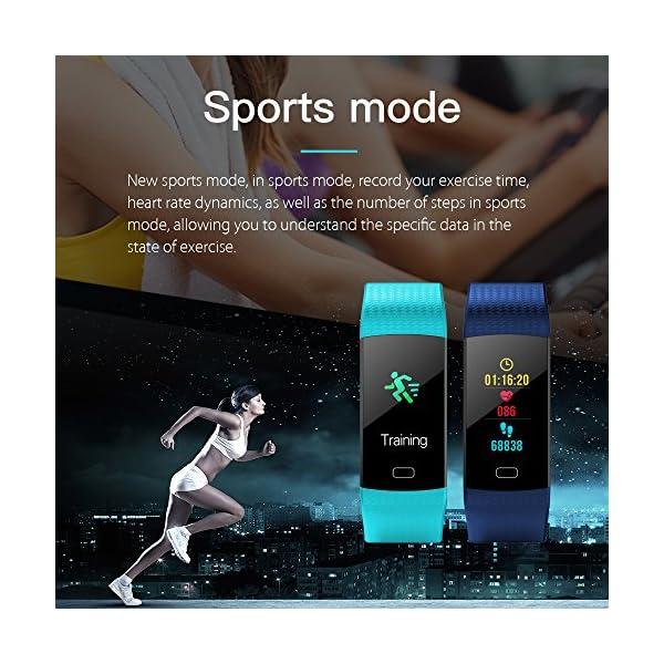 YILON Pulsera Actividad Fitness Tracker Pulsera Inteligente Reloj Fitness Podómetro Monitor de Ritmo cardíaco IP67… 3
