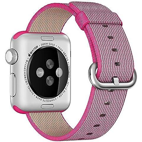 Per Apple Watch Serie 2Serie 1in tessuto di nylon cinturino braccialetto intrecciato confortevole Nylon resistente sottile, cinturino da polso sostitutivo per iWatch