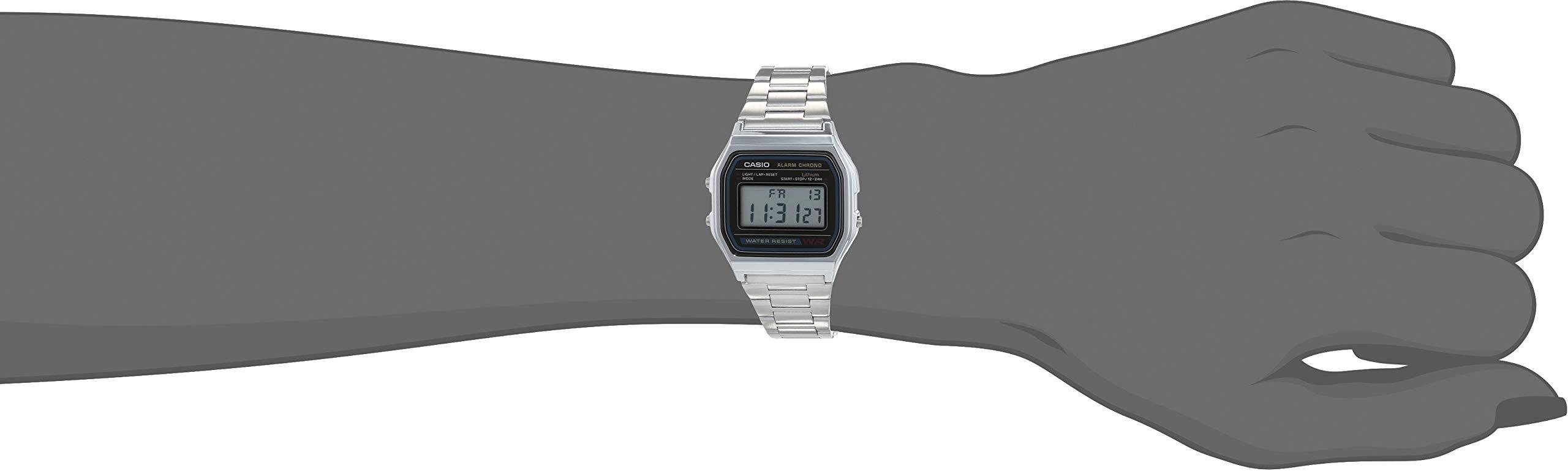UnisexoCorrea Plateado Acero Casio Color Inoxidable A158wa Reloj De KTc1JFl
