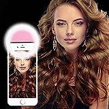Selfie luce Ring, Febite Faretto 36 LED Flash luce video macchina fotografica Enhancing Night Lighting per iPhone Samsung Smartphone e Tablet (rosa) immagine