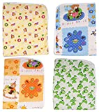 #5: Dolphers Changing Mat for New Born Baby - Plastic & Cotton Foam Cushioned Baby Waterproof Sheets - Baby Sleeping Mat # Pack of 4 # Age: Upto 1 year # Assorted Colors