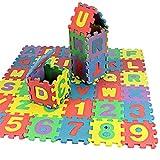 Alphabet Weiche Badteppich Badvorleger Set, 36-teilig weich Kinder EVA Schaum Spiel Nr. 09& Buchstaben A–Z Baby Aktivität Puzzle playmats–Schutz von Flur