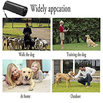 WIRSV 2pack Dog Repeller,3 in 1 Anti Barking Stop Bark Ultrasonic Pet Dog Repeller Training Device Trainer With LED (2 X… 5