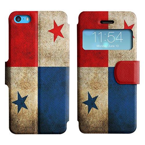 Graphic4You Vintage Uralt Flagge Von Mexiko Mexikanisch Design Leder Schützende Display-Klappe Brieftasche Hülle Case Tasche Schutzhülle für Apple iPhone 5C Panama Panamaisch