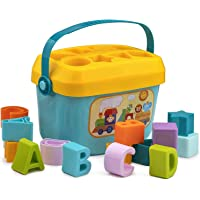 LONGMIRE Baby First's Block Shape, Sorter, Colors,Baby and Toddler, ABCD Shape, Toys for 1 Year Old Girl